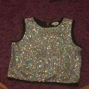 Glitter crop top